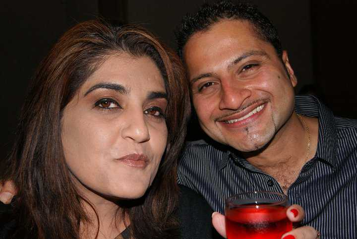 Kamal and I at my birthday in 2010
