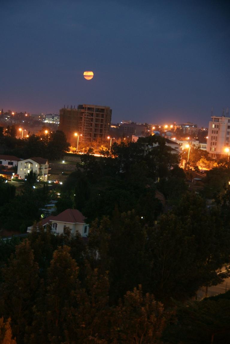 The Supermoon over Kigali, Rwanda